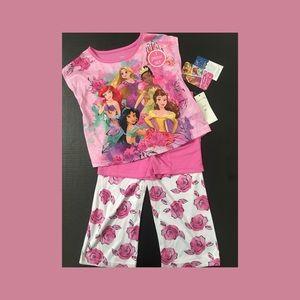 Disney Princess Pajamas 3 Piece Set Size 2T